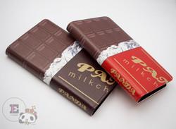 【手帳型】スマホケース。王様ぱんだ。チョコ。【帯なし】