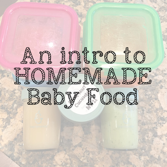 An intro to homemade baby purées