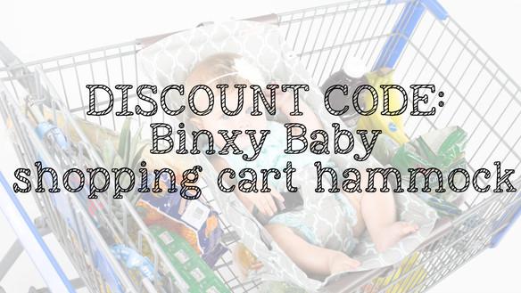Binxy Baby - Shopping Cart Hammock - Discount Code