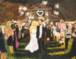 Wedding, painting, event paining