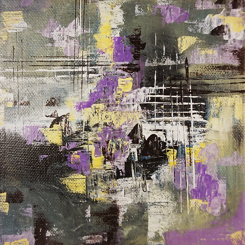 Abstract Study Purple to Yellow