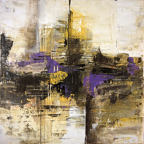 Abstract Study Yellow to Purple