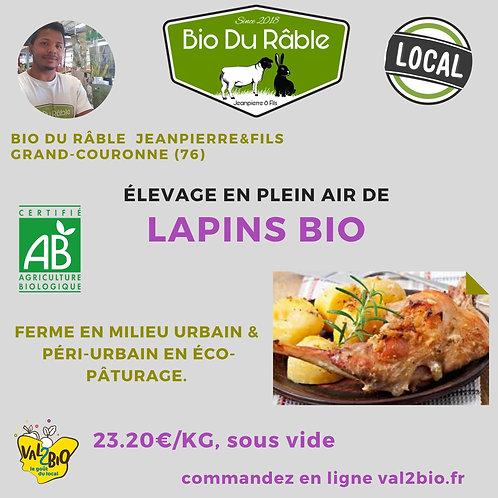 BIO02 Lapin +/- 1.5 kg (Prix au kilo)