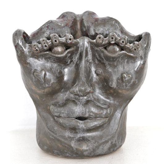 woman face vase