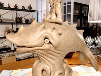 My Poseidon art sculpture under construction..