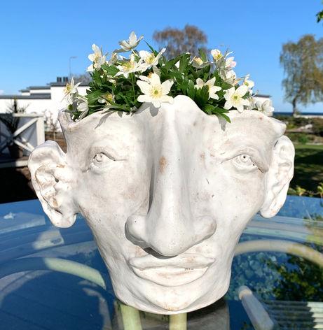 woman flower vase