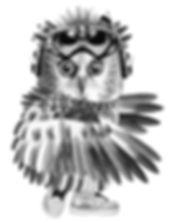 Owl artwork by Michala Brincker, #michalabrincker