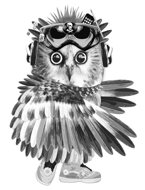 Owl artwork by Michala Brincker, #michalabrincker