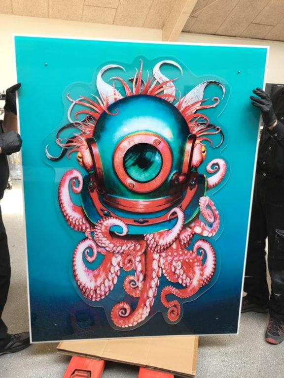 Beautiful octopus painting