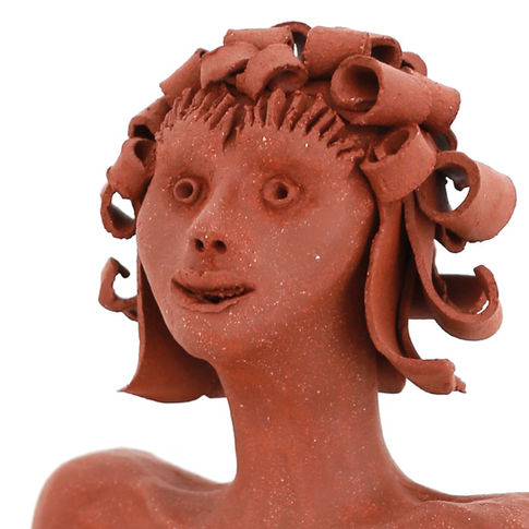 The red woman sculpture