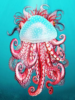 Octopus_Jellyfish_artwork_Michala_Brinck