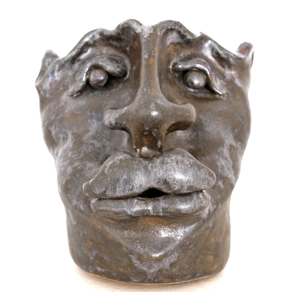 ceramics face sculpture