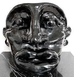 ceramics face sculpture
