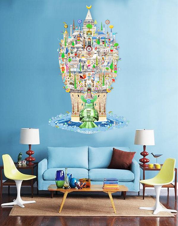 Galata Tower artwork ISTANBUL art