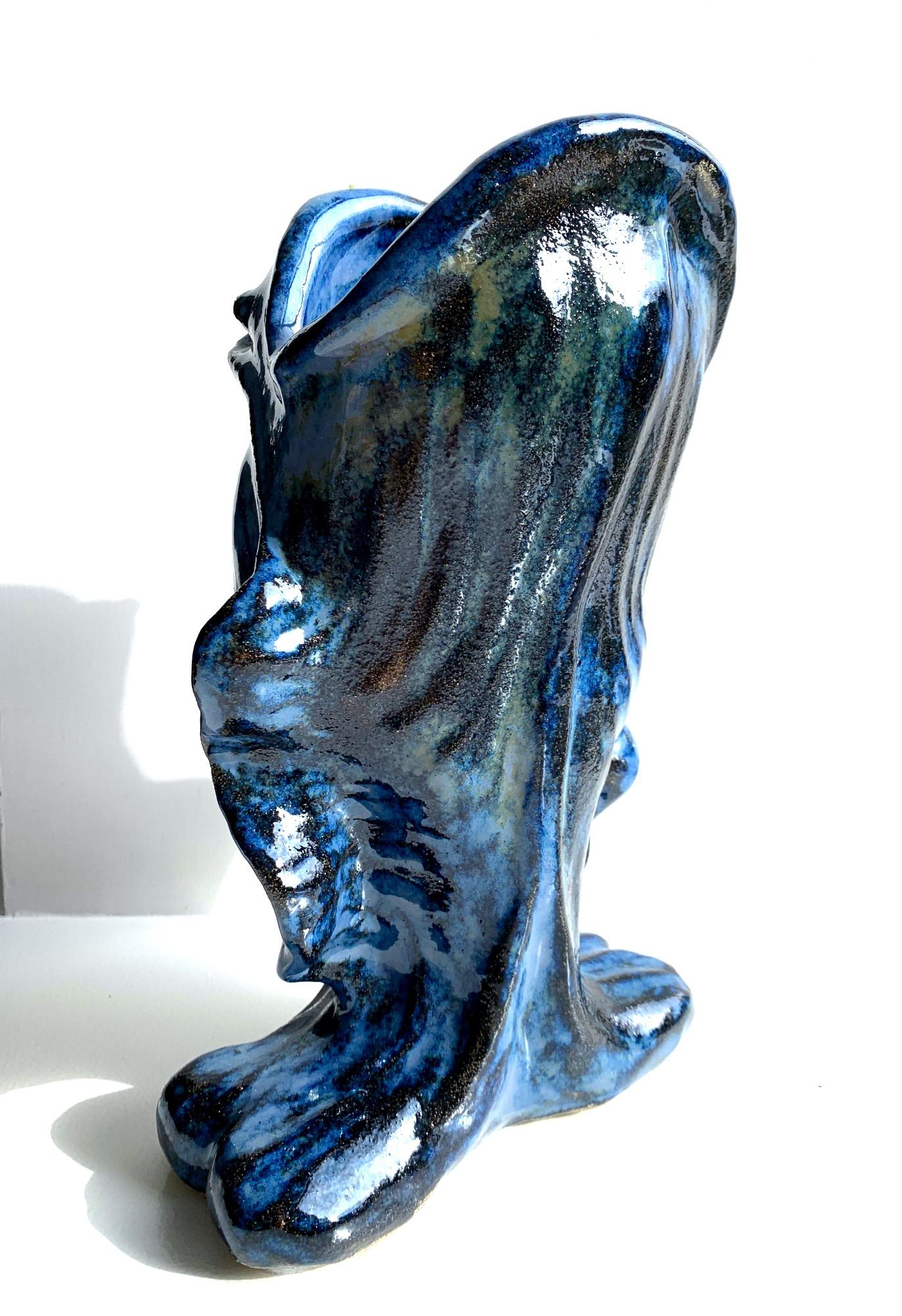 Big blue fish vase - SOLD