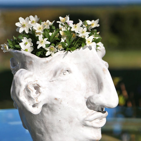 White face vase man