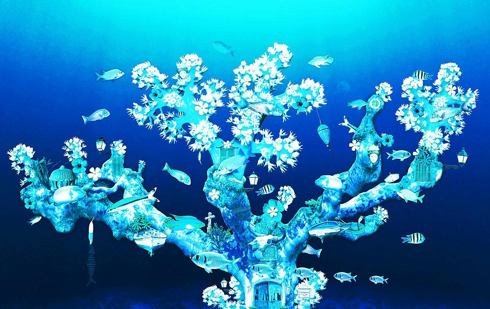Blue_fish_coral_reef_artwork_Michala_Bri