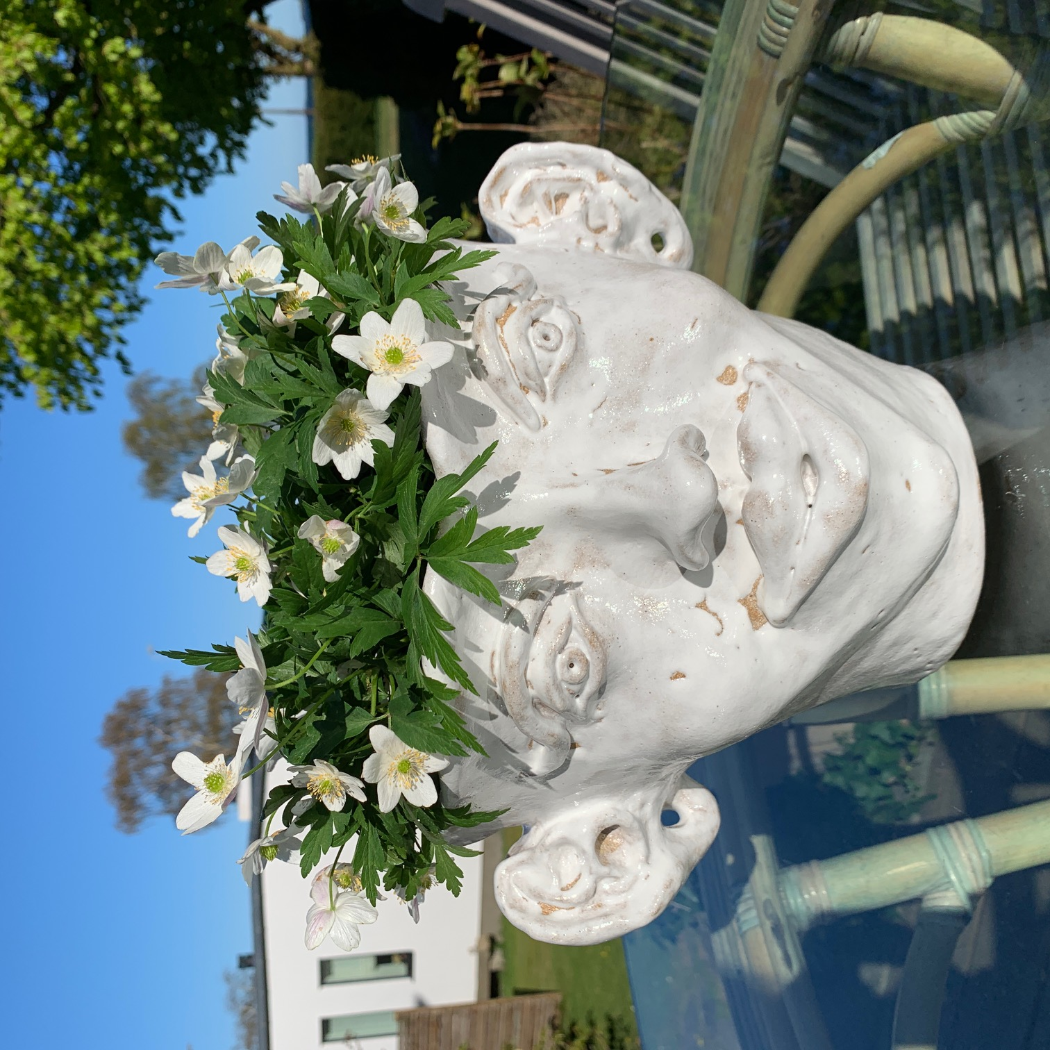 Woman & Man white vase