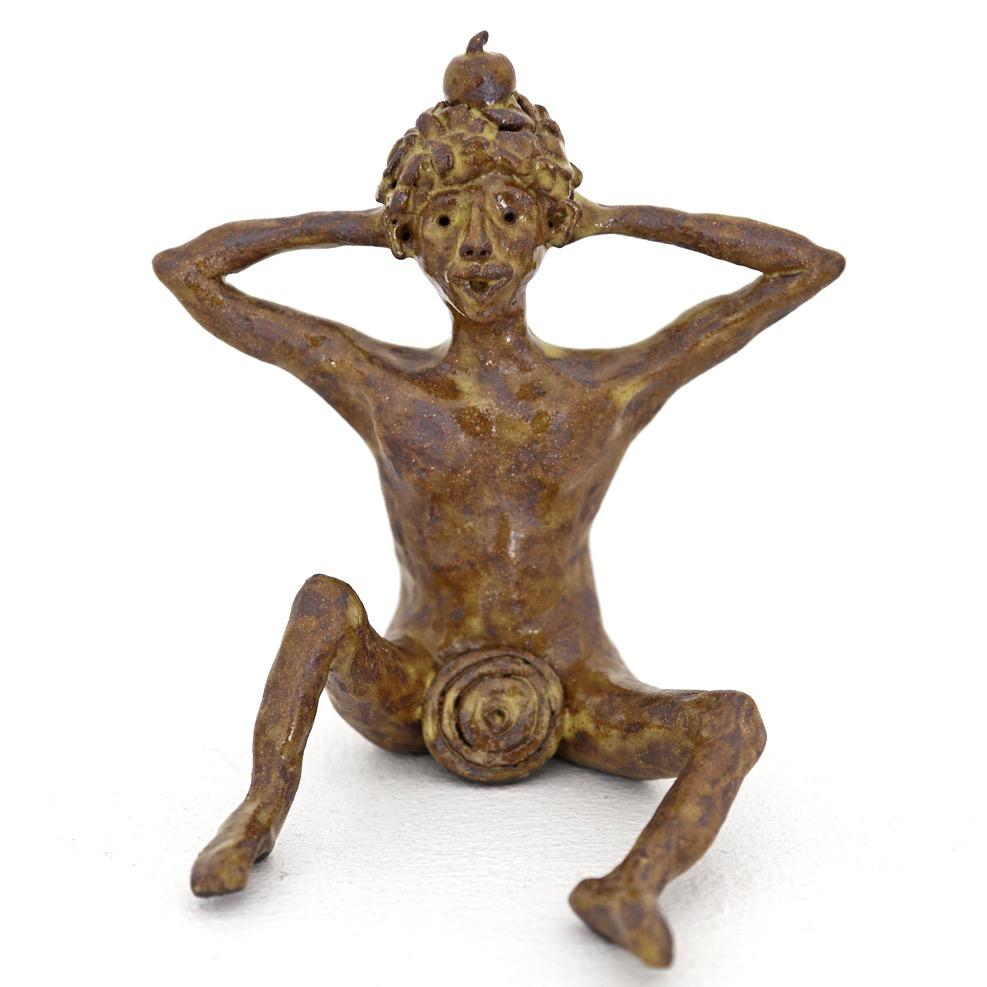 Appel man sculpture
