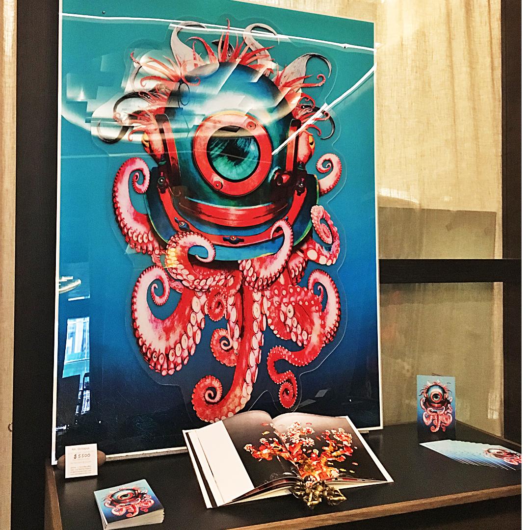 Octopus wall sculpture