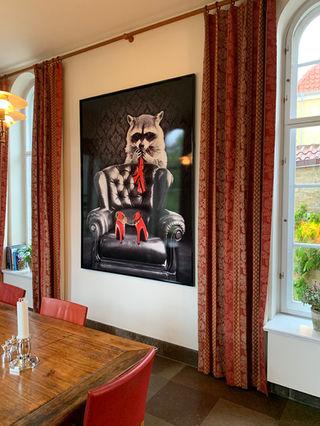 raccoon artwork by Michala Brincker