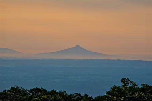 Sunrise on Pilot Mountain