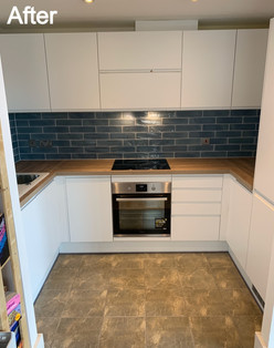 Finished kitchen ready for tenants