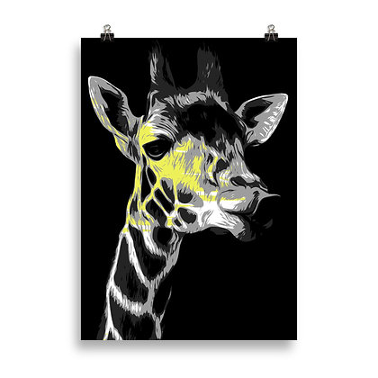 Giraffe (black) Poster by DesignSaloon