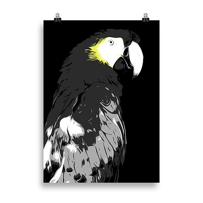 Parrot (black) Poster by DesignSaloon