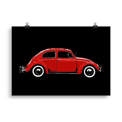 Käfer (red) Poster by DesignSaloon