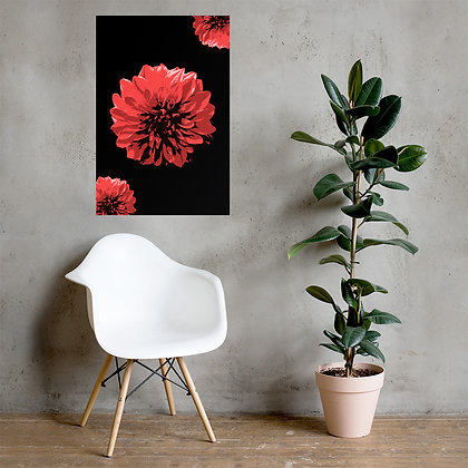 Red flower Poster by DesignSaloon