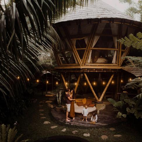 Tropikalna sesja rodzinna I Hideout Bali