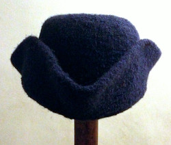 Custom felted wool tricorne hat