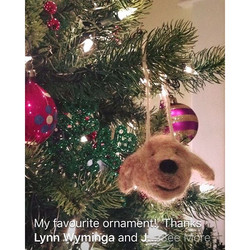 Custom memorial dog ornament