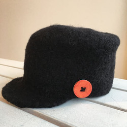 Lynn's Lids felted wool cadet cap