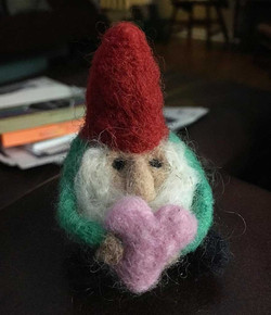 Felted Love Gnome