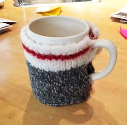 Custom work sock mug cosy