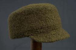 Felted wool cadet cap