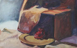 08 Gold Plate with Grapes POS 14 x 22