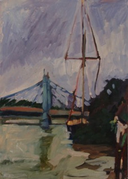 13 Boat on The Thames POL 13 x 18