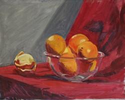 15 Glass bowl with oranges pos 16 x 20