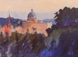 10 Rome Overlook POL 10 x 14