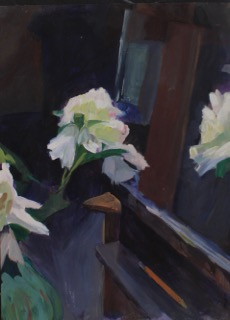 13-POS-White Flowers with Easel