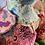 Thumbnail: Whimsical Trellis Green Velvet XXL Crown Shade