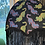 Thumbnail: Psychedelic Tigers Black Velvet with Braid and Fringe