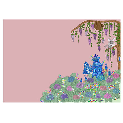 Chinoise Garden Print In Pink