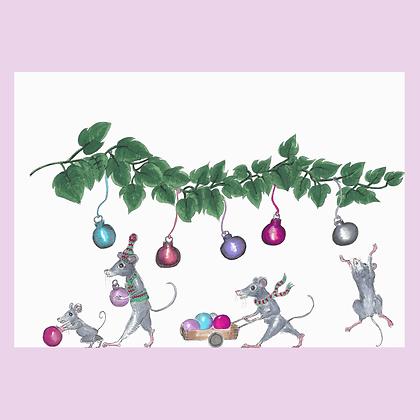 Jingle Mice Print