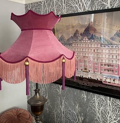 XXL Blush Pink Velvet Crown Shade