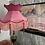Thumbnail: XXL Blush Pink Velvet Crown Shade