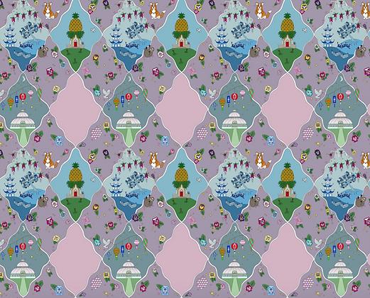 Whimsical Trellis Lilac Velvet